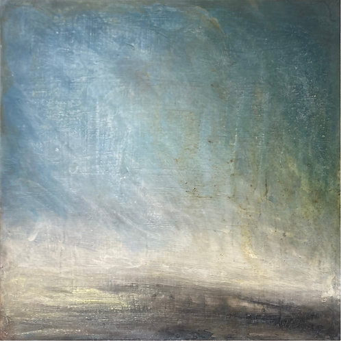 'Storm' wood panel painting