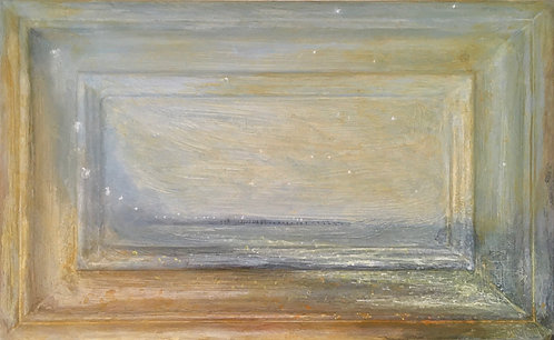 nicola campbell art, Brighton artist, beach scene, sussex art, Brighton seascape, palace pier, modern romanticism