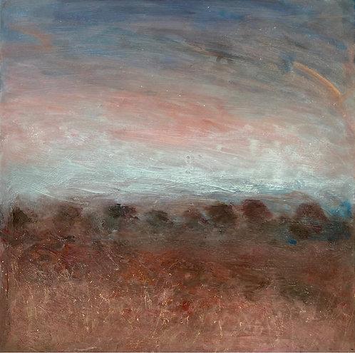 Autumn painting, original art, autumn colour, autumn skies