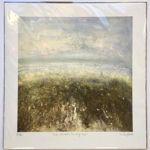 seascape print, seaside view, artist print, seascape print