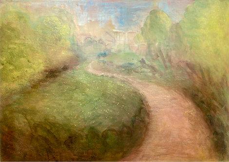 royal Pavilion gardens, brighton paintings, garden painting