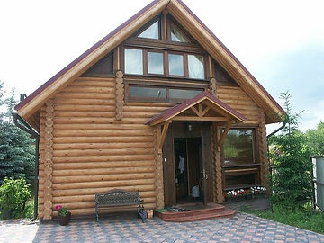 построить дом из оцилиндрованного бревна под ключ