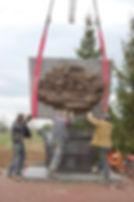 установка мемориального памятника