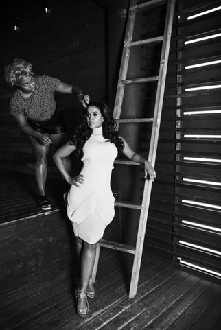 Behind the scenes with Tracey Edmonds cover shoot