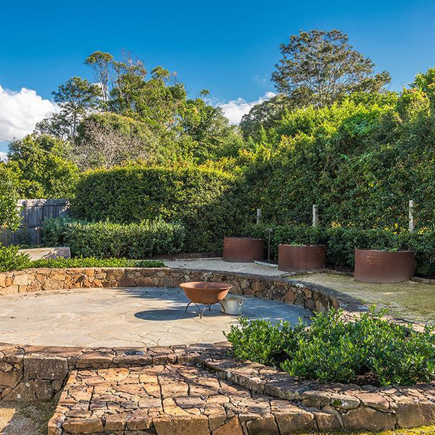 Garden and firepit