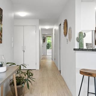 Hallway to the bedrooms of Karinya