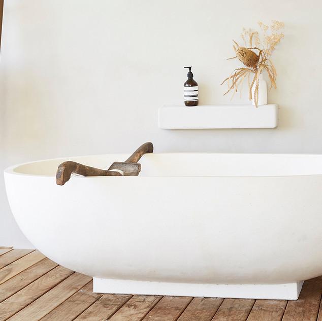 Relax in the bathtub