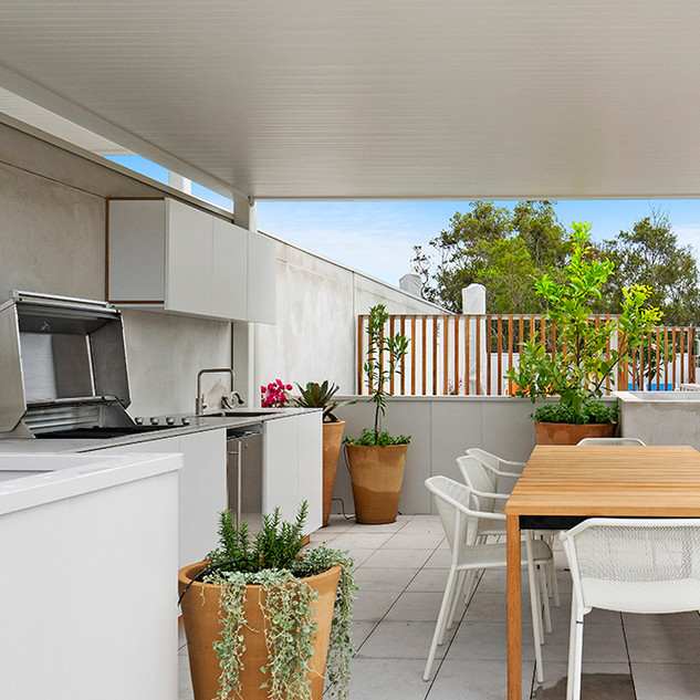 Rooftop entertaining area