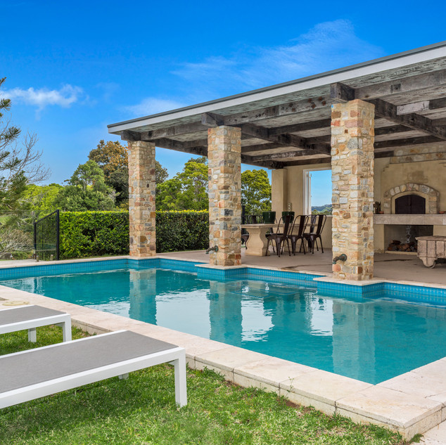 Swimming pool and undercover entertaining area