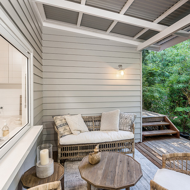 Large outdoor veranda