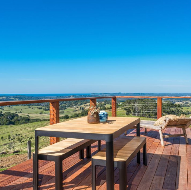 Outdoor dining with views