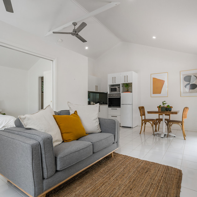 Open-plan, light filled cottage