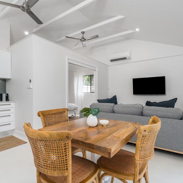 Light filled cottage interior