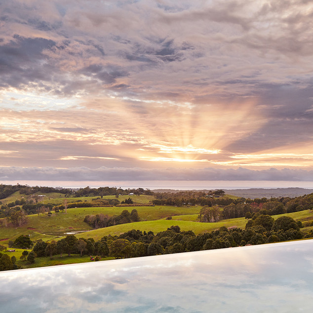 Pool overlooking stunning hinterland views
