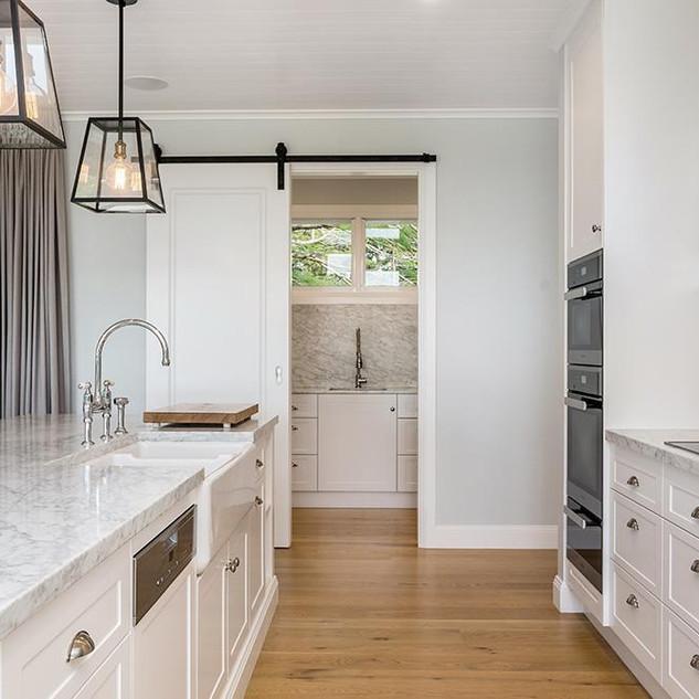 Kitchen through to bulters pantry