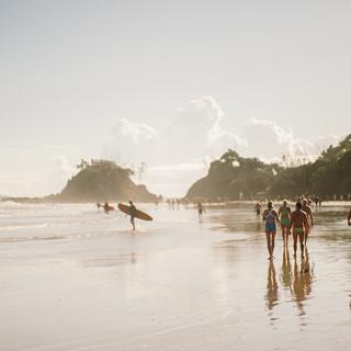 Beach walks along to The Pass