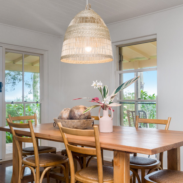 Dining room with garden/hinterland views
