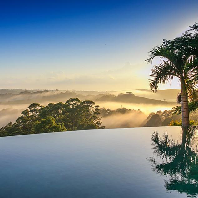 Outdoor pool overlooking hinterland