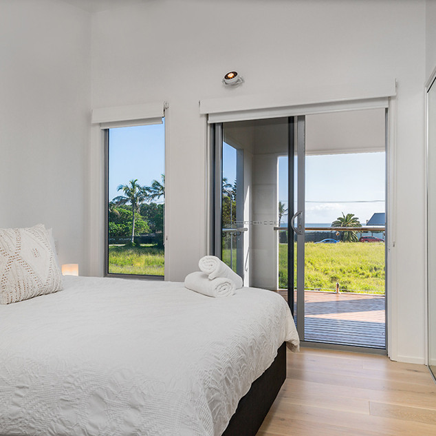 Bedroom with views to ocean
