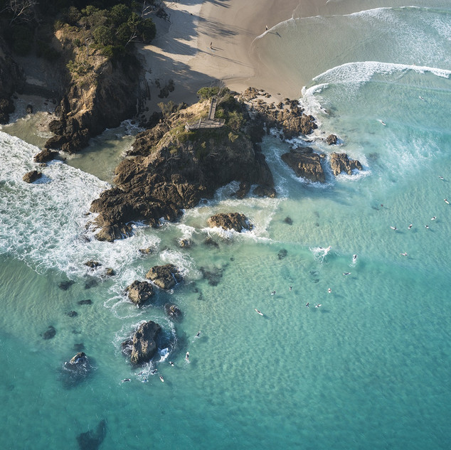 The beaches of Byron Bay