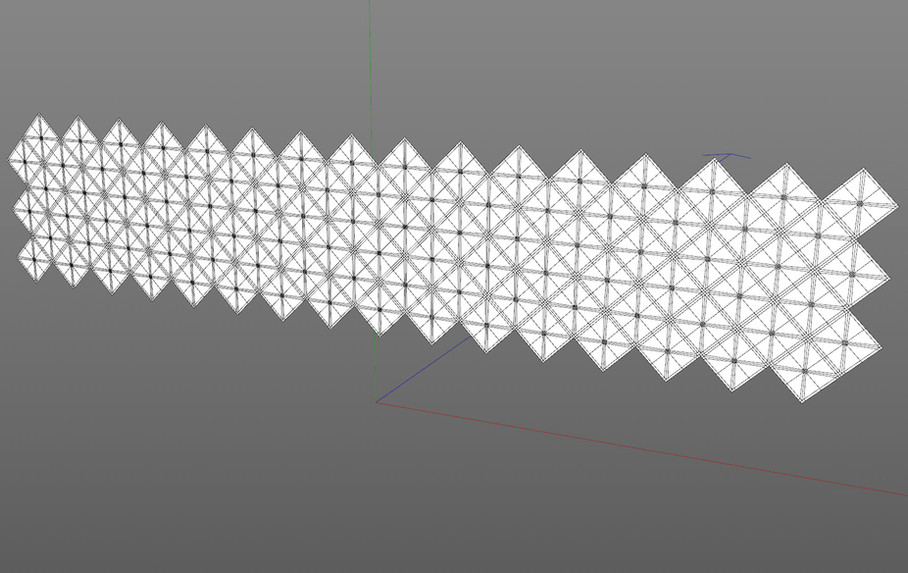Duplicated using a Cloner object in Honeycomb mode.