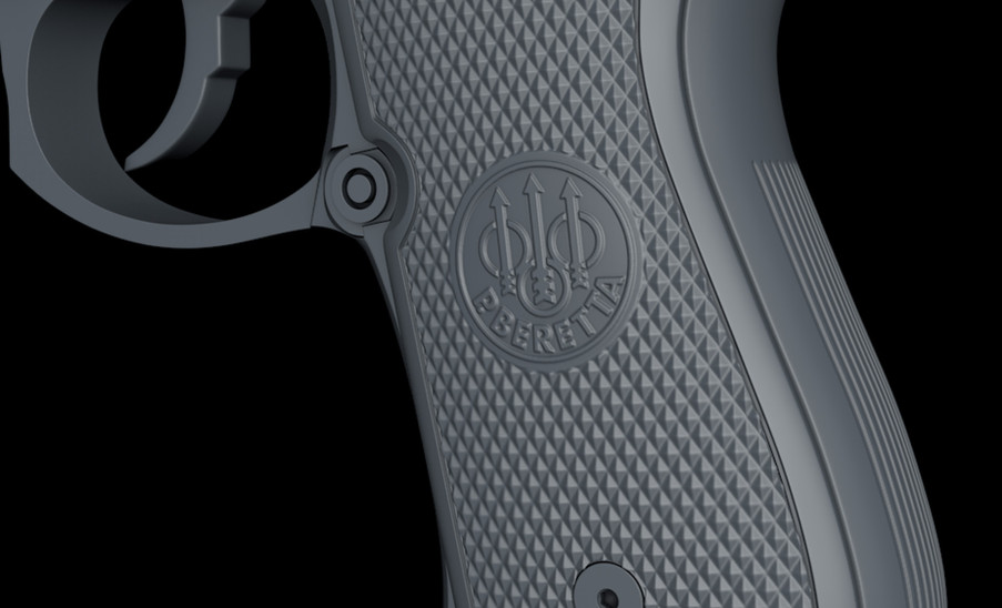 Got the knurling and logo displacement working pretty well. Created and exported from ZBrush.