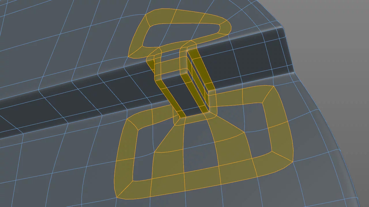 Adding a tooth into this section required some creative looping to sharpen and not affect the surrounding curvature.