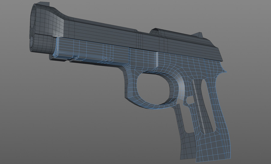 More work on the handle and trigger guard.