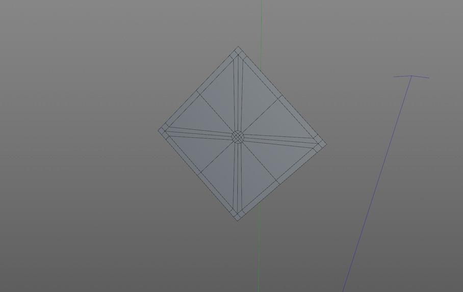 Clean, quad geometry for a single knurling diamond.