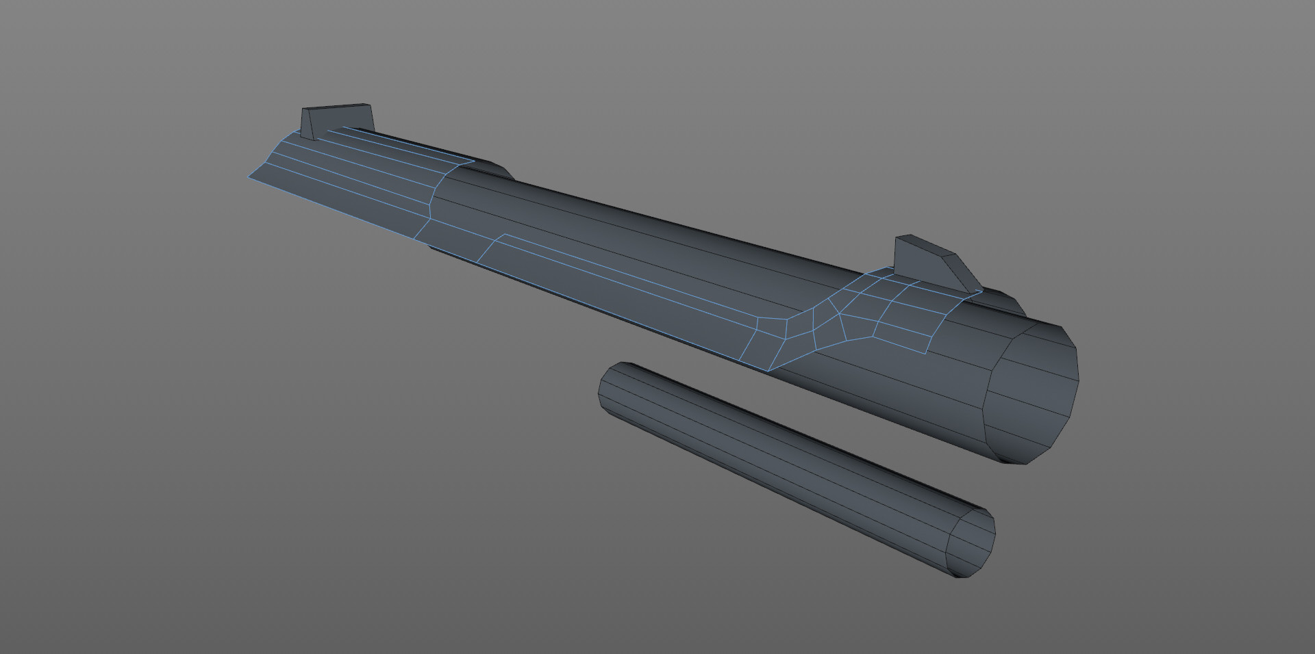 Started with a cylinder object as a base for the slide. Dropped into Symmetry and roughed out the shape keeping poly count low.