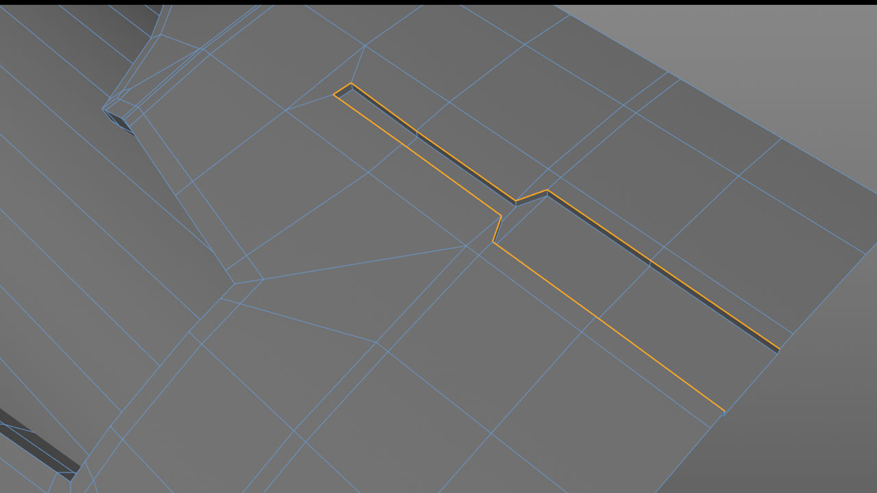Cutting details into the cylinder is fairly straight forward as this is still inside a Cloner object and here I used the Slide tool to clone extra edges. Starting with enough edges in the cylinder allowed me to cut in this kind of detail and not effect the overall curvature.