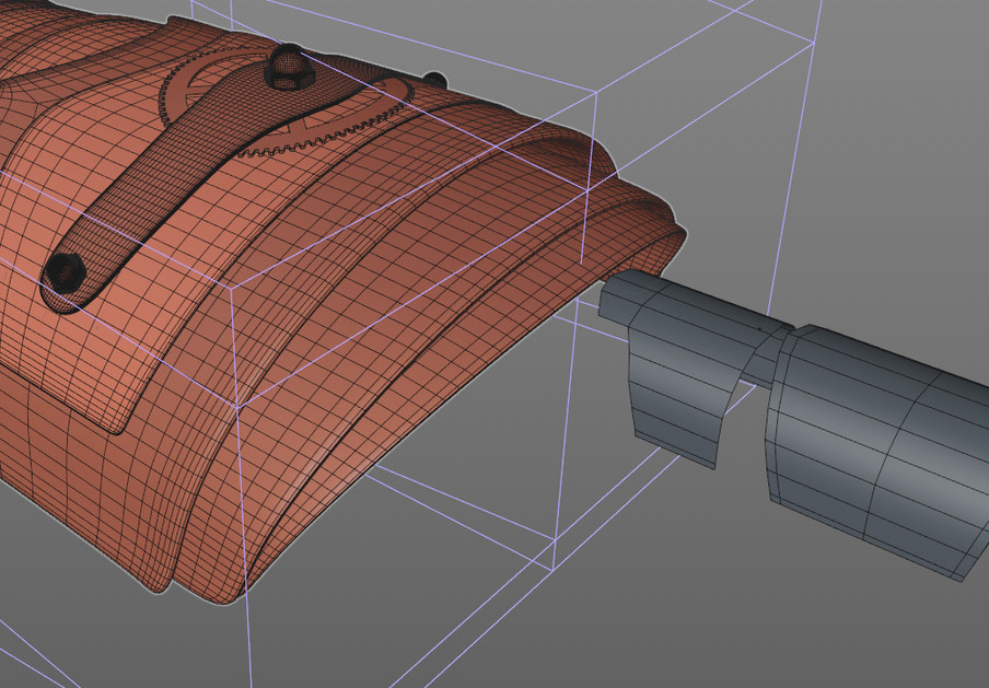 The fingers also started as cylinders, starting at the base and working towards the tip of the finger.