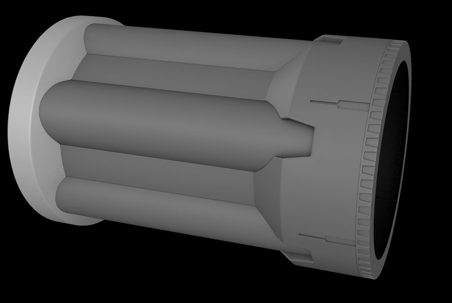 The completed cylinder and barrel section.
