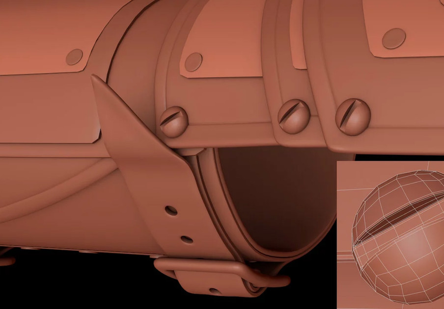 Round head screws were used to connect the sections together.