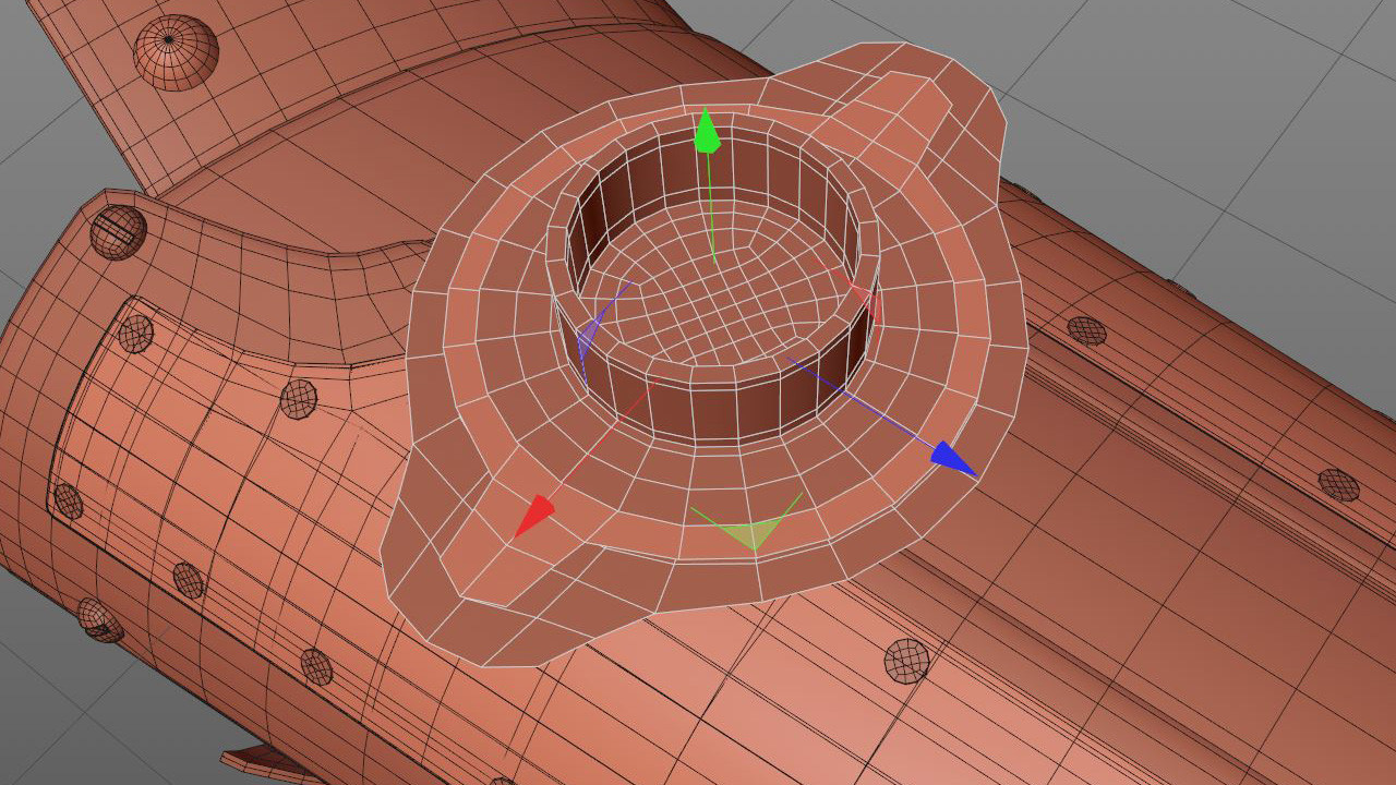 I started this light using Disk objects as a base, once again modeling mostly flat.
