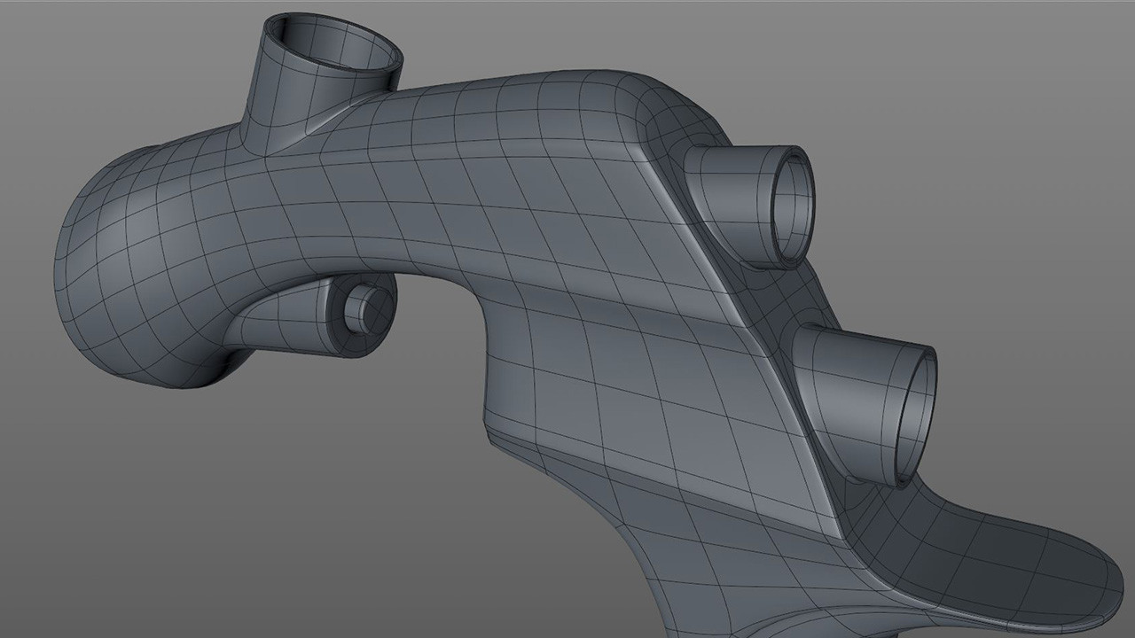 The top cylinder was attached using the same process, then each cylinder was extruded to add depth.