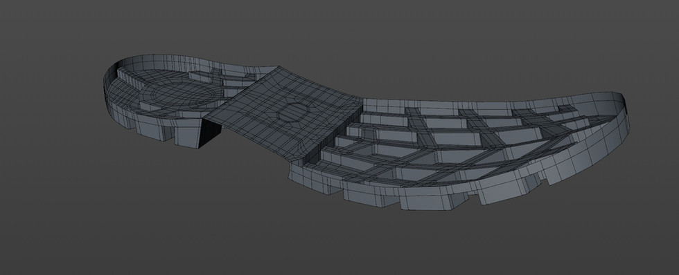 Bridged the remaining polygons to create the depth.