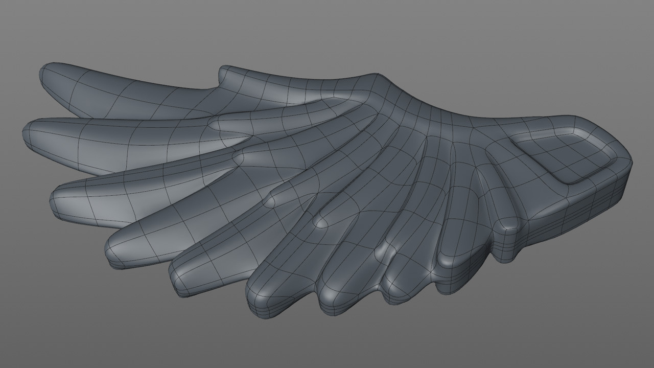 then the outer feather and outer edge and extruded downwards, working in Symmetry.