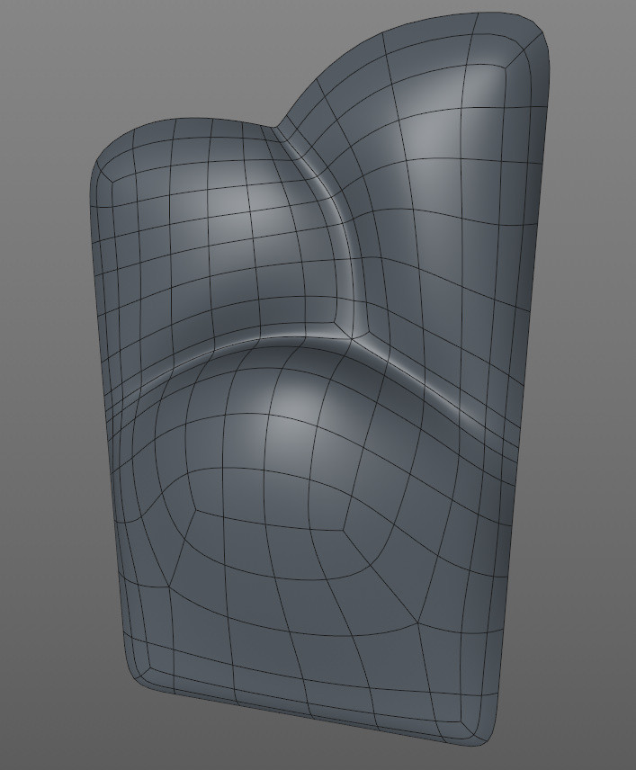 This section was modelled flat using the Polygon Pen tool then smoothed and given depth using the Brush tool.