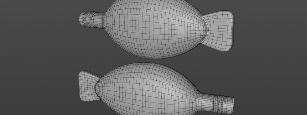Made SDS editable and added tail. Created the thread separately and stitched onto the fish.