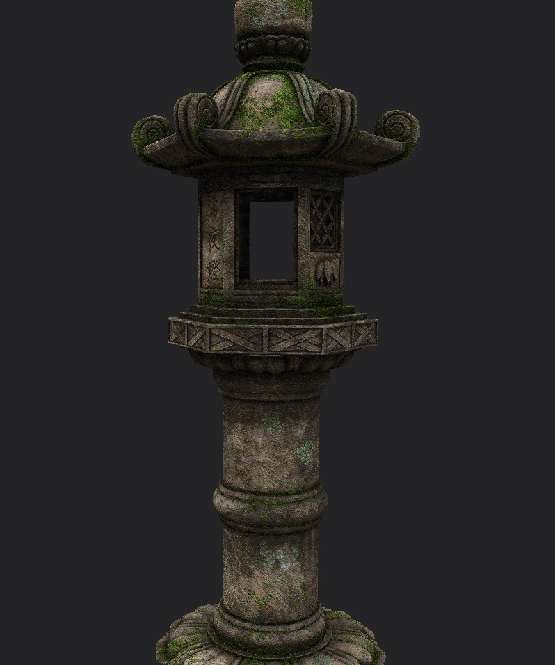 I could have worked for days on refining the look but was pretty happy with this aged stone look. Substance Painter is such a joy to use, especially if you already have Photoshop skills.