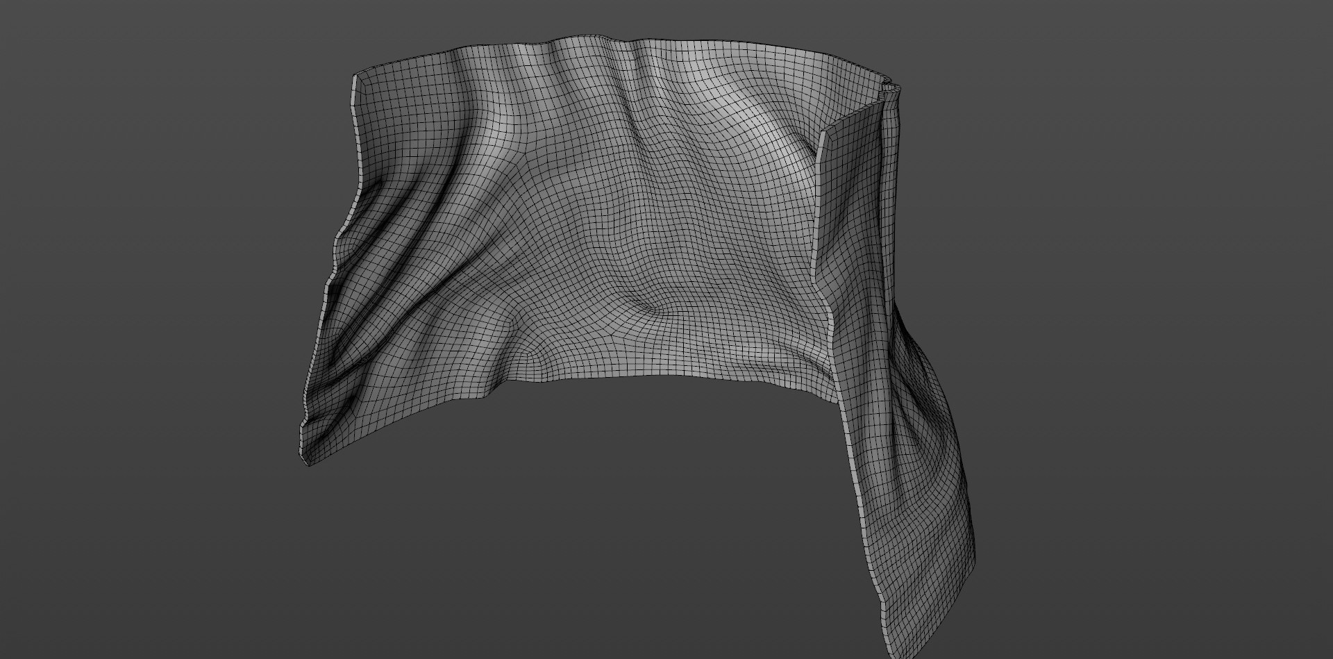 Fabric was created using a Smoothing Deformer.