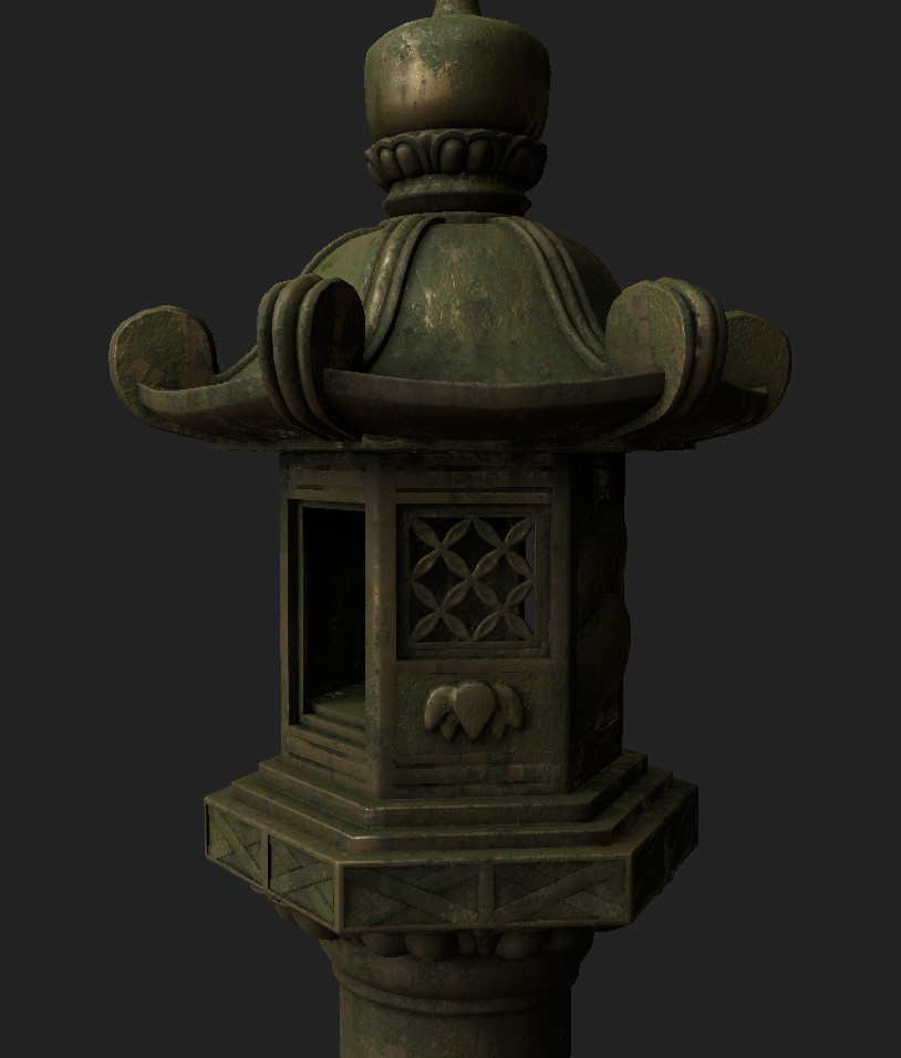 This is a worn metal look that I was playing around with in Substance Painter…