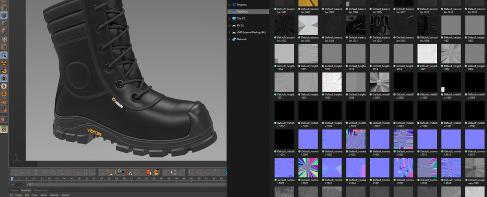 UDIM workflow used in Redshift to streamline all Substance Painter textures down to a single Redshift material.