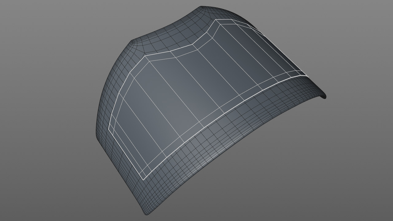 For the metal plates that sit on top of the leather I selected then disconnected polygons using the Split command.