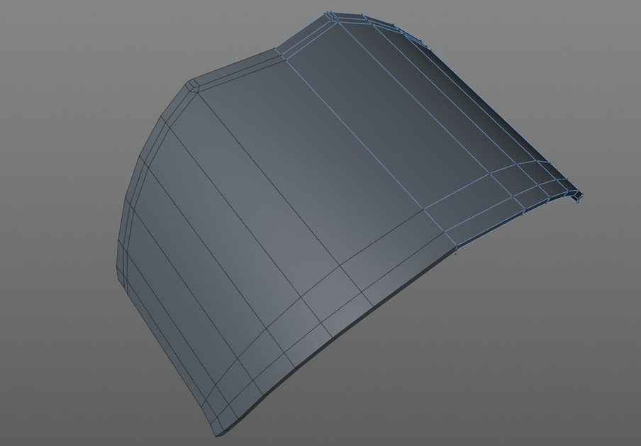 Here a section of a cylinder was dropped into a Symmetry object before adjusting and extruding.
