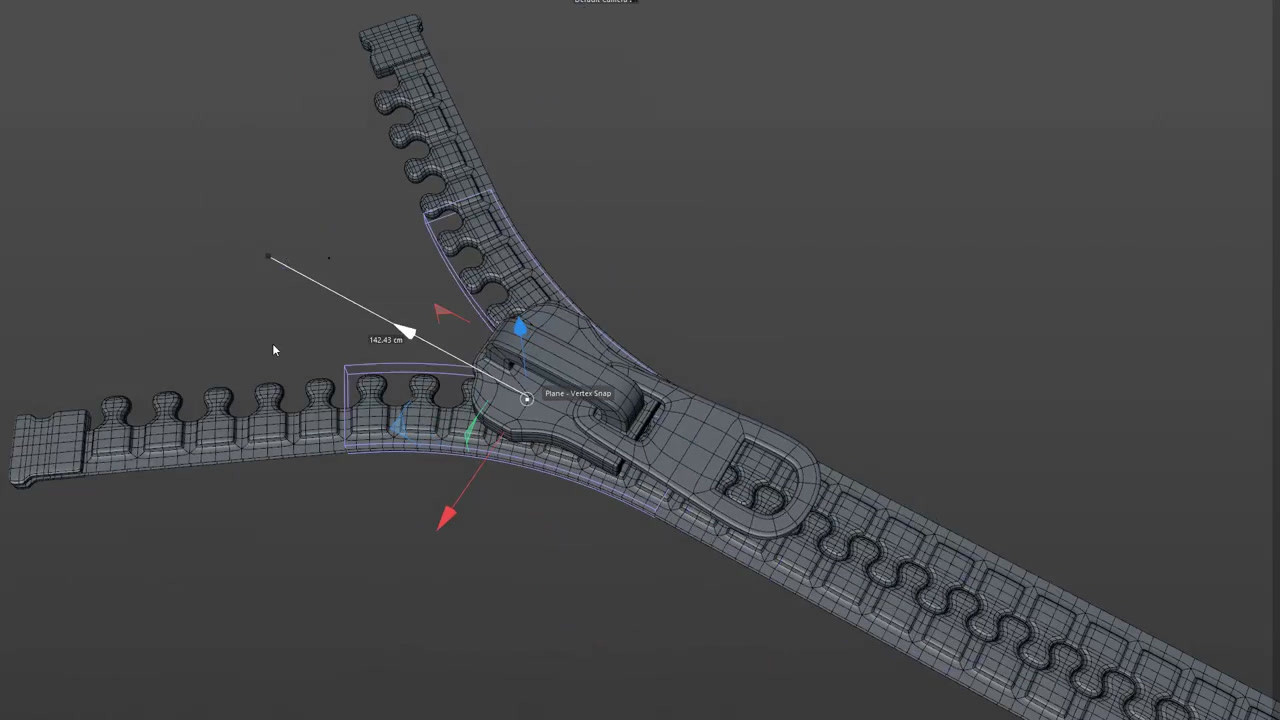 A test animation created using Bend Deformers.