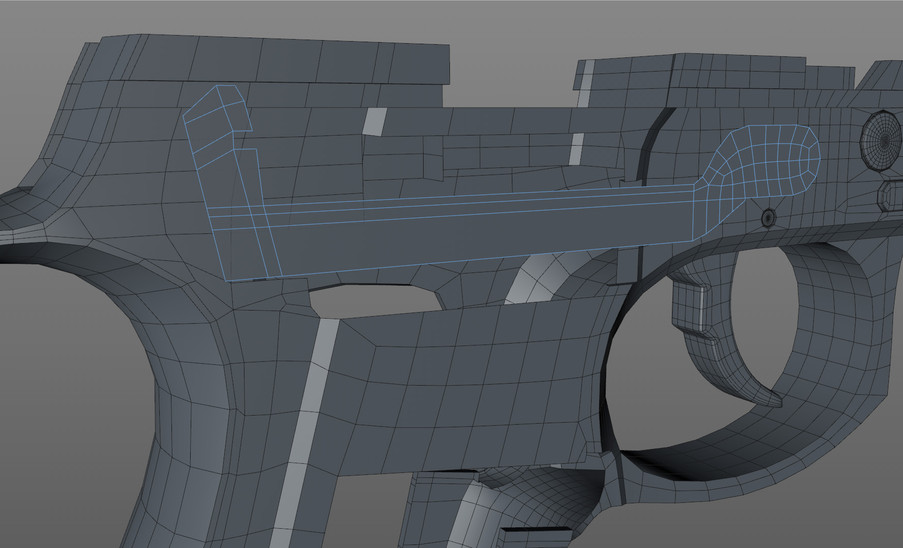 Take Blocking in the trigger bar topology flat before adding extrusions.
