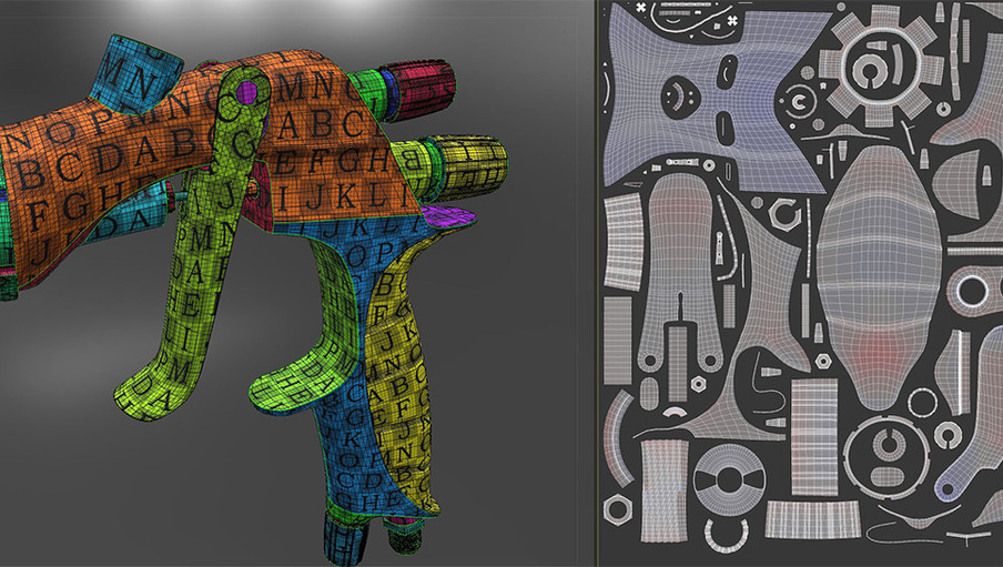 3D Coat made short work of the UV unwrapping.