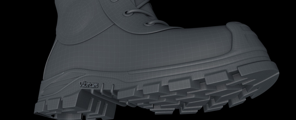 Sole detail finished.